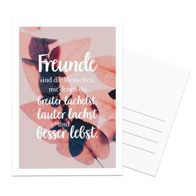 Freunde sind die Menschen - Postkarte Lieblingsmensch