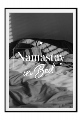 Poster Lieblingsmensch - Namastay in Bed