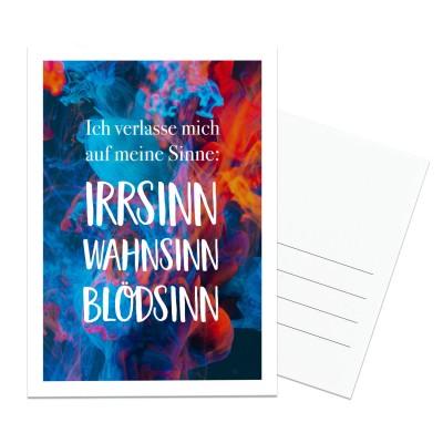 Postkarte Lieblingsmensch - Ich verlasse mich auf meine Sinne