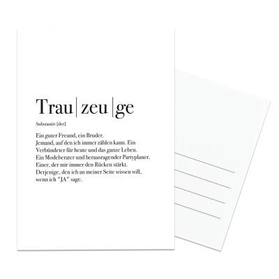 Postkarte Lieblingsmensch - Trauzeuge