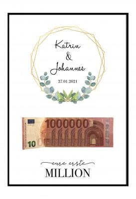 Poster - Eure erste Million - Geldgeschenk zur Hochzeit