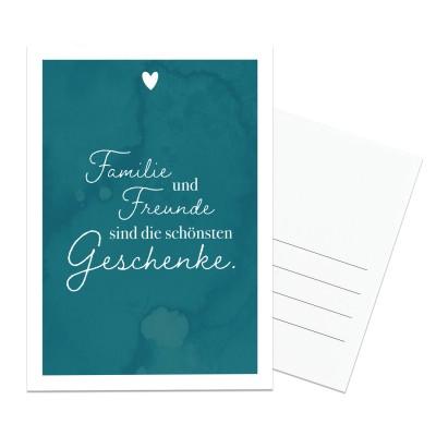 Postkarte Lieblingsmensch - Familie und Freunde sind die schönsten Geschenke