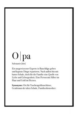 Opa Poster - im Lieblingsmensch Shop - Geschenke für die Familie
