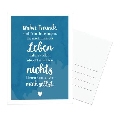 Lieblingsmensch Postkarte - Wahre Freunde sind für mich diejenigen