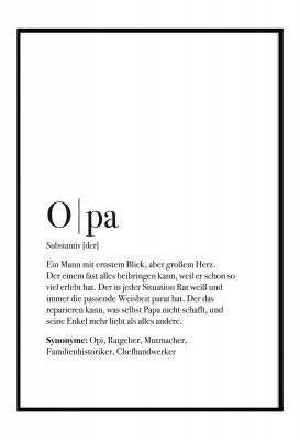 Poster Opa - Definition Opa - Poster im Lieblingsmensch Shop