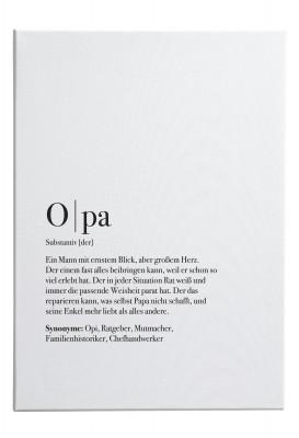 Opa Dudeneintrag - Leinwandbild Lieblingsmensch