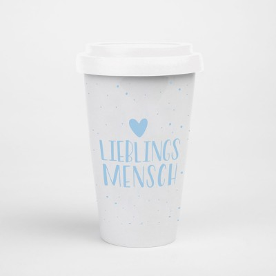 "Visualstatements To-Go-Becher ""Lieblingsmensch"""