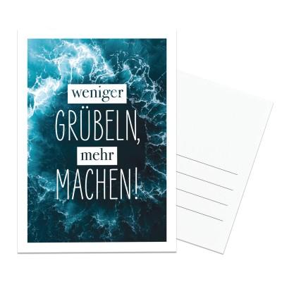 Postkarte Lieblingsmensch - Weniger Grübeln, mehr machen