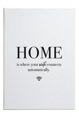 Home - Leinwandwandbild von Lieblingsmensch