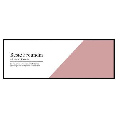 Beste Freundin - Panoramaposter Lieblingsmensch