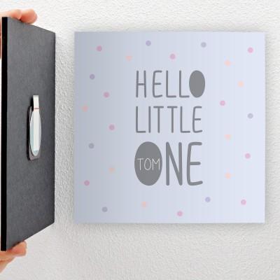 Hello little one - personalisiertes Geschenk zur Geburt