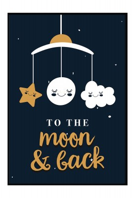 To the moon and back - Poster fürs Kinderzimmer