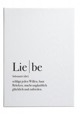 Definition Liebe - Wandbild
