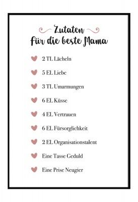 Zutatenliste Mama - Libelingsmensch Poster