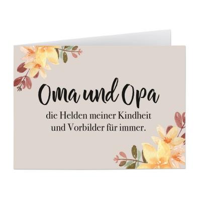 Oma und Opa - Grußekarte Lieblingsmensch