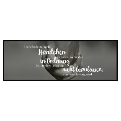 Lieblingsmensch Panoramaposter - Liebe bedeutet nicht