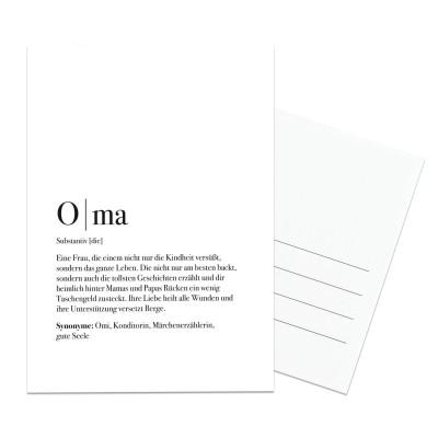 Postkarte für die Oma - Geschenk für Oma - im Lieblingsmensch Shop