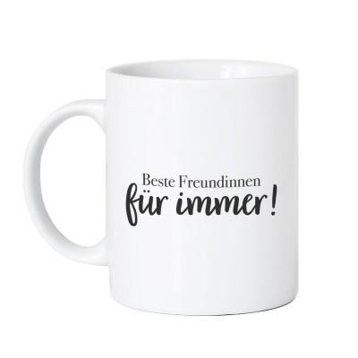 Tasse Vorderseite - Beste Freundinnen für immer