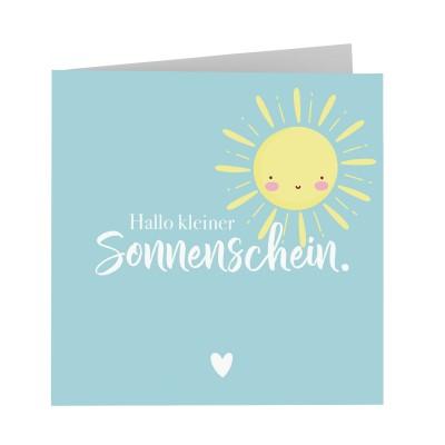 Hallo kleiner Sonnenschein - Grußkarte Quadrat Lieblingsmensch