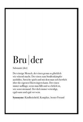 Bruder Dudeneintrag - Lieblingsmensch Poster