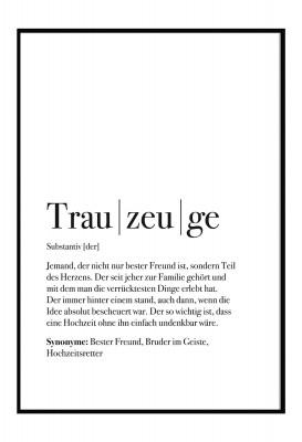 Trauzeuge Dudeneintrag - Poster Lieblingsmensch