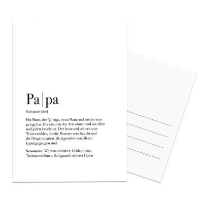 Postkarte Papa - Definition Papa - Postkarte im Lieblingsmensch Shop