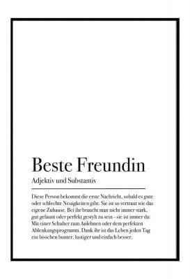 Beste Freundin - Poster von Lieblingsmensch