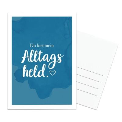 Lieblingsmensch Postkarte - Du bist mein Alltagsheld.