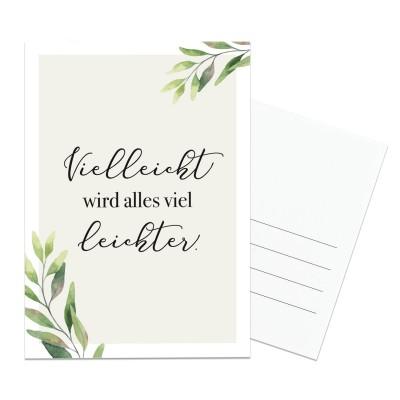 Postkarte Lieblingsmensch - vielleicht wird alles viel leichter.