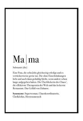 Poster - Lieblingsmensch - Motiv Mama