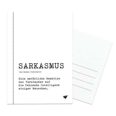Sarkasmus - Postkarte