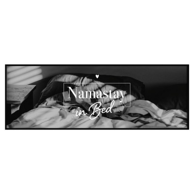 Namastay in Bed - Panoramaposter Lieblingsmensch