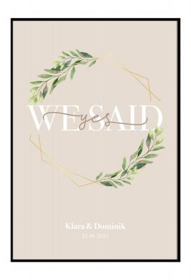 We said yes - personalisiertes Poster zur Hochzeit