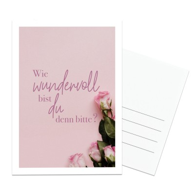 Postkarte Lieblingsmensch - Wie wundervoll bist du denn bitte?!