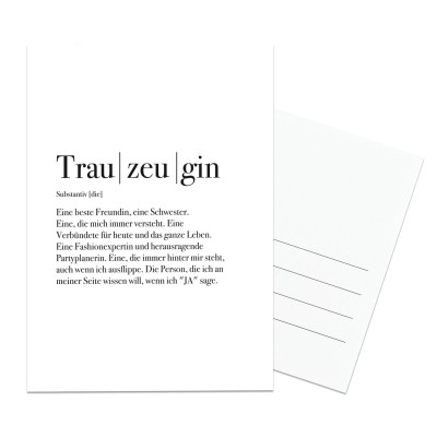 Postkarte Lieblingsmensch - Trauzeugin