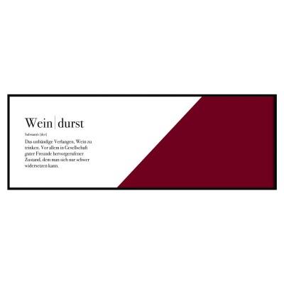 Weindurst - Panoramaposter