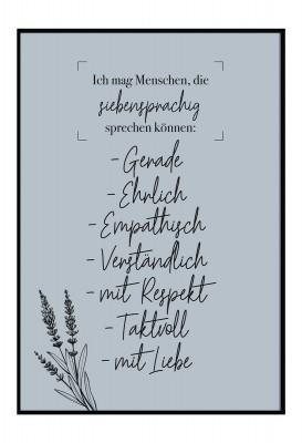 Ich mag Menschen, die siebensprachig sprechen können. - Poster Lieblingsmensch