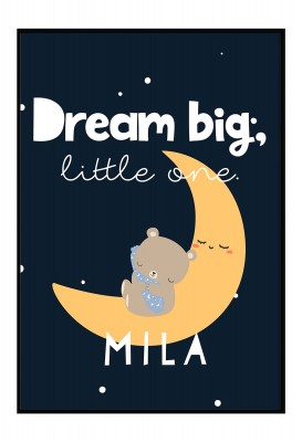 Dream Big little one - Personalisiertes Poster
