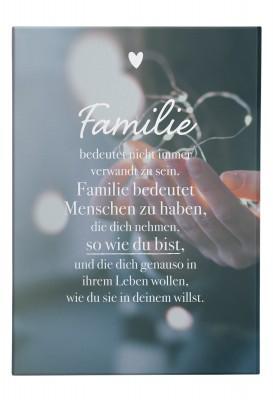 Wandbild Lieblingsmensch - Familie bedeutet