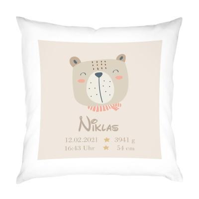 personalisiertes Kissen zur Geburt