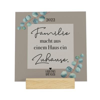 Familie - Kalender 2022 im Holzaufsteller Lieblingsmensch