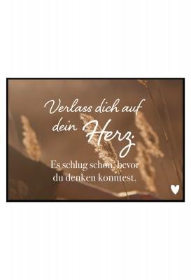 Verlass dich auf dein Herz - Poster von Lieblingsmensch