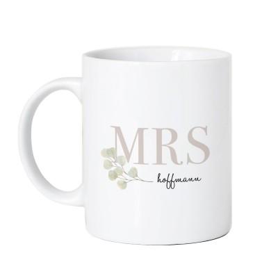 personalisierte Tasse zur Hochzeit - Mrs Tasse
