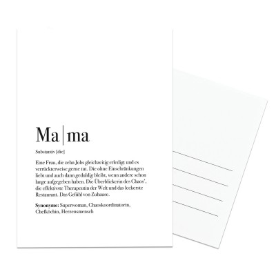 Mama Dudeneintrag - Lieblingsmensch Postkarte