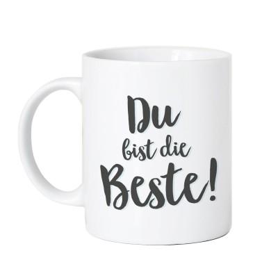 Tasse Vorderseite - Du bist die Beste