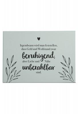 Lieblingsmensch Wandbild - Mintfarbene Leinwand mit schönem Spruch